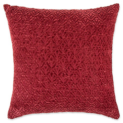make your own pillow derrick chenille square throw pillow cover in red bed bath beyond. Black Bedroom Furniture Sets. Home Design Ideas