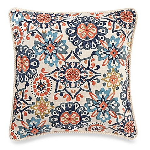 Make Your Own Decorative Pillow Covers : Make-Your-Own-Pillow Abigail Square Throw Pillow Cover in Navy - Bed Bath & Beyond