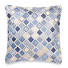 image of Make-Your-Own-Pillow Diamond Square Throw Pillow Cover in Blue