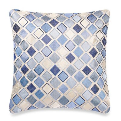 Decorative Pillow Makers : Make-Your-Own-Pillow Diamond Square Throw Pillow Cover in Blue - Bed Bath & Beyond