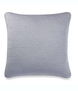 Funda cuadrada para cojín Make-Your-Own-Pillow texturizada en azul