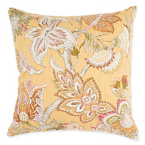 Throw Pillows Make Your Own : Make-Your-Own-Pillow Love Affair Square Throw Pillow Cover in Yellow - Bed Bath & Beyond