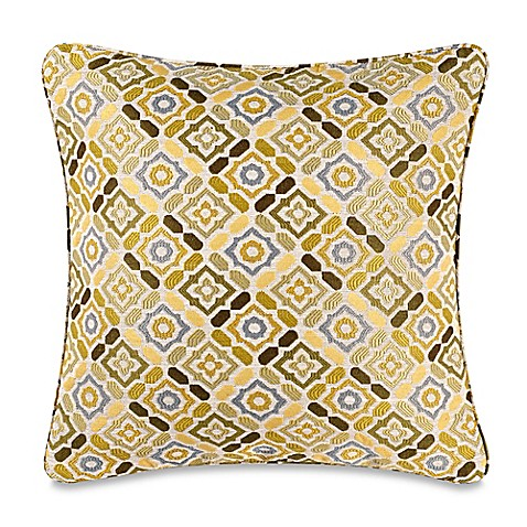 Buy Make-Your-Own-Pillow Ritz Square Throw Pillow Cover in Green from Bed Bath & Beyond