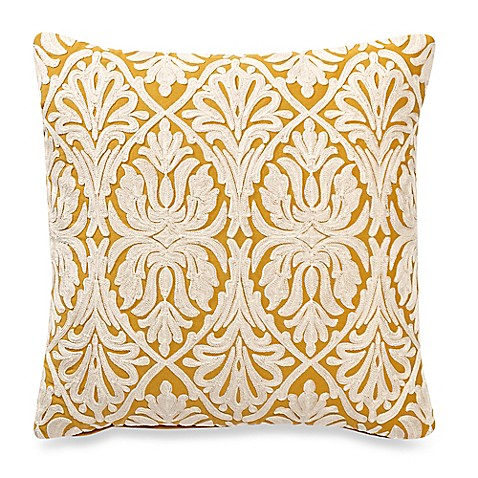Make Your Own Decorative Pillow Covers : Make-Your-Own-Throw-Pillow Royalle Square Throw Pillow Cover in Yellow - Bed Bath & Beyond