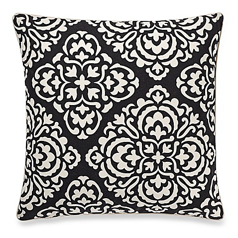 make-your-own-pillow ceila square throw pillow cover in black/white Make Your Own Pillow Design