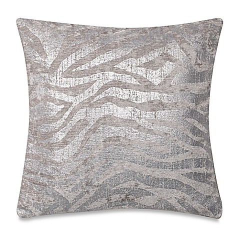 Make Your Own Decorative Pillow Covers : Make-Your-Own-Pillow Zebra Square Throw Pillow Cover in Silver - Bed Bath & Beyond