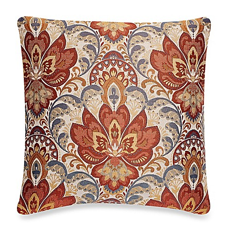 make-your-own-pillow bardane square throw pillow cover in rust - bed Make Your Own Pillow Design