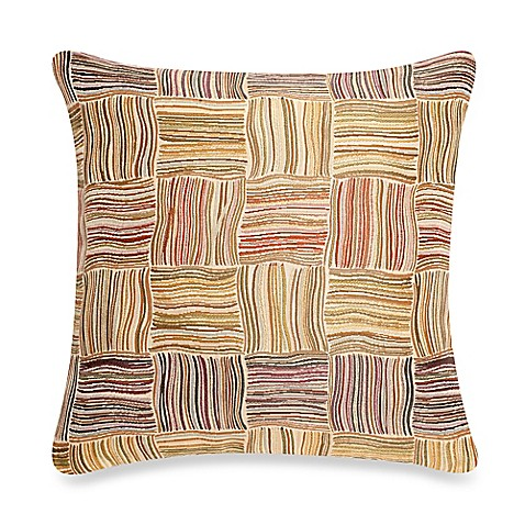 Make Your Own Decorative Pillow Covers : Make-Your-Own-Pillow Flourish Square Throw Pillow Cover in Rust - Bed Bath & Beyond