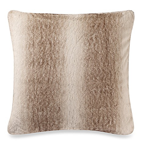 Fur Throw Pillow Covers : Make-Your-Own-Pillow Grizzly Fur Square Throw Pillow Cover in Brown - Bed Bath & Beyond