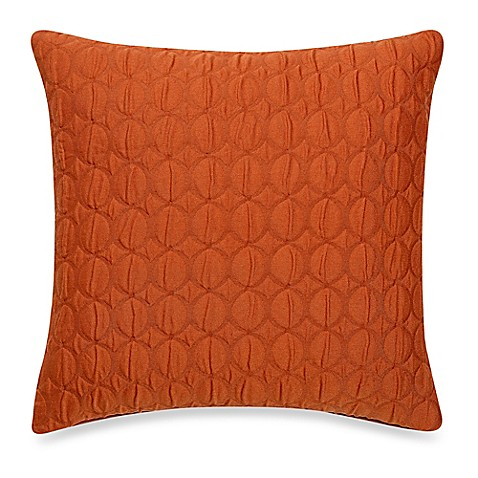 buy make your own pillow ogee quilt square throw pillow cover in rust from bed bath beyond. Black Bedroom Furniture Sets. Home Design Ideas