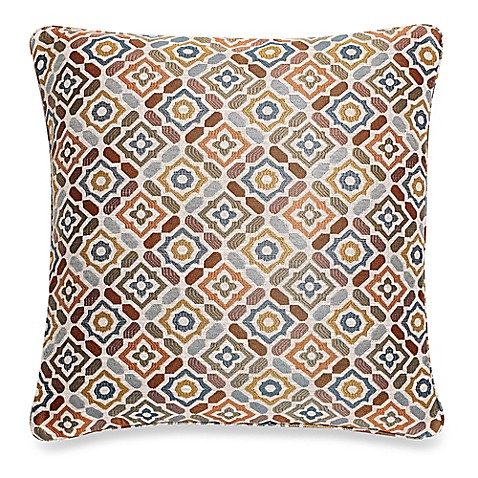 Make Your Own Decorative Pillow Covers : Buy Make-Your-Own-Pillow Ritz Square Throw Pillow Cover in Rust from Bed Bath & Beyond