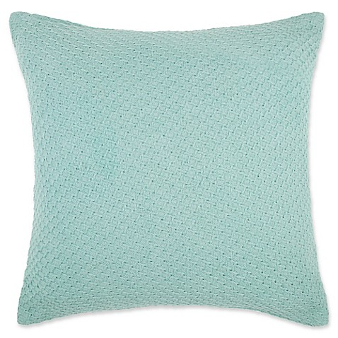 Buy Make-Your-Own-Pillow Abby Square Throw Pillow Cover in Teal from Bed Bath & Beyond