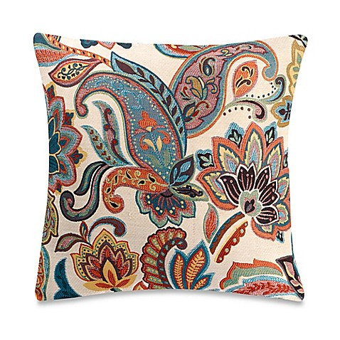 Make Your Own Decorative Pillow Covers : Make-Your-Own-Throw-Pillow Blakey Floral Throw Pillow Cover in Teal - Bed Bath & Beyond
