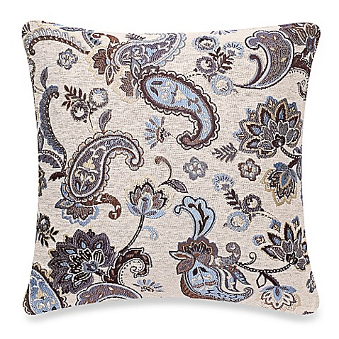 Make-Your-Own-Pillow Chantilly Square Throw Pillow Cover in Teal - Bed Bath & Beyond