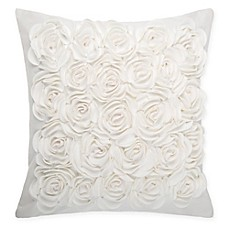 Make Your Own Pillow Rosey Square Throw Pillow Cover In Ivory