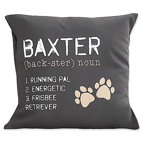 Decorative Pillows > Definition of My Dog Keepsake 18-Inch Square Throw Pillow from Buy Buy Baby