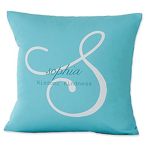 Throw Pillow Name Origin : Name Meaning Keepsake Square Throw Pillow - Bed Bath & Beyond