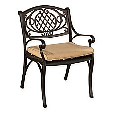 image of Hillsdale Esterton Outdoor Dining Chairs in Black/Gold (Set of 2)