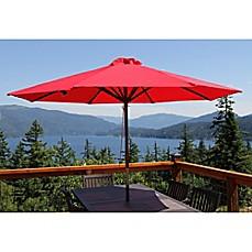 Image Of 9 Foot Wood Classic Umbrella