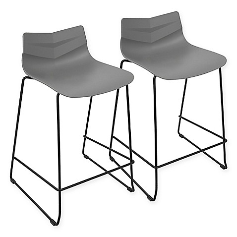 Buy Lumisource Arrow Counter Stool In Grey Set Of 2 From