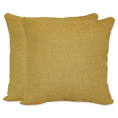 Buy Jasper Square Throw Pillows in Yellow (Set of 2) from Bed Bath & Beyond