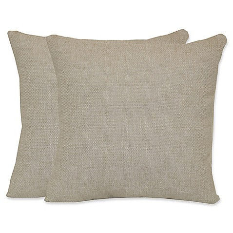 White Square Throw Pillows : Buy Jasper Square Throw Pillows in White (Set of 2) from Bed Bath & Beyond
