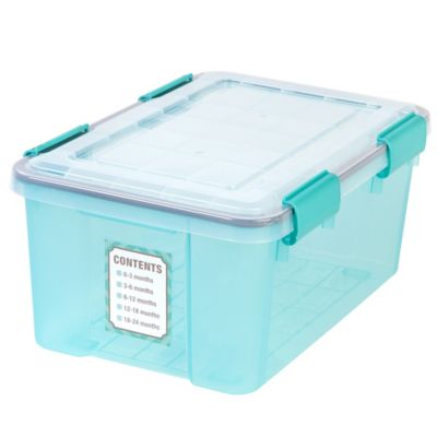 IRIS Weathertight 19 qt Keepsake Storage Boxes Set of 6