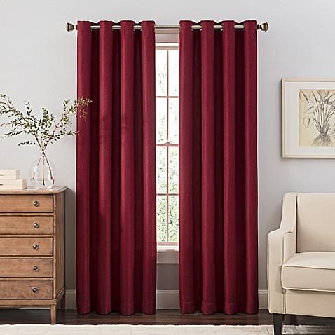 Buy Reina 84 Inch Grommet Top Window Curtain Panel In