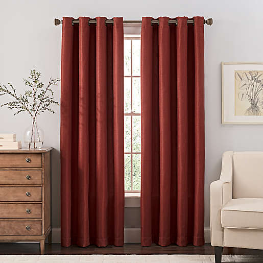 Reina Grommet Top Window Curtain Panel, Bed Bath And Beyond Living Room Curtains