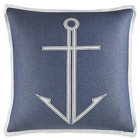 Medium Blue Throw Pillows : Nautica Trawler Anchor Throw Pillow in Medium Blue - Bed Bath & Beyond