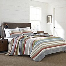 image of Eddie Bauer® Salmon Ladder Stripe Quilt Set