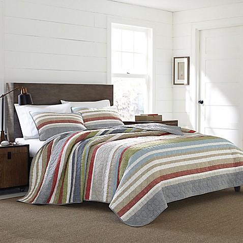Eddie Bauer 174 Salmon Ladder Stripe Quilt Set Bed Bath