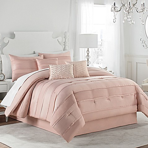 Matte Satin Pleat Comforter Set Bed Bath Amp Beyond