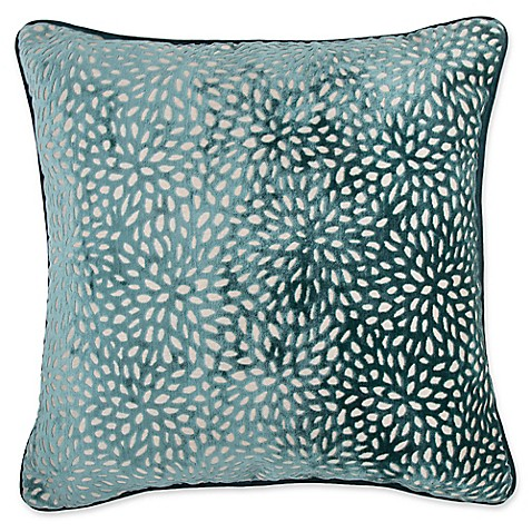 Make Your Own Decorative Pillow Covers : Buy Make-Your-Own-Pillow Karst Square Throw Pillow Cover in Teal from Bed Bath & Beyond