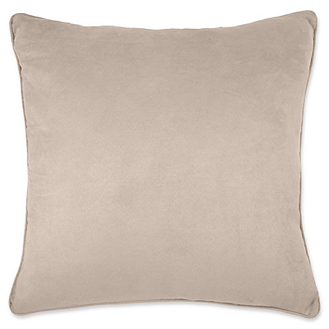 Buy Make-Your-Own-Pillow Izmir Suede Throw Pillow Cover in Beige from Bed Bath & Beyond