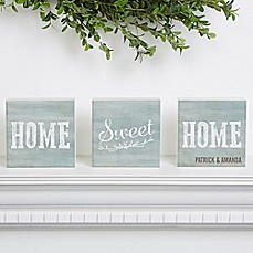 image of Home Sweet Home Shelf Blocks (Set of 3)