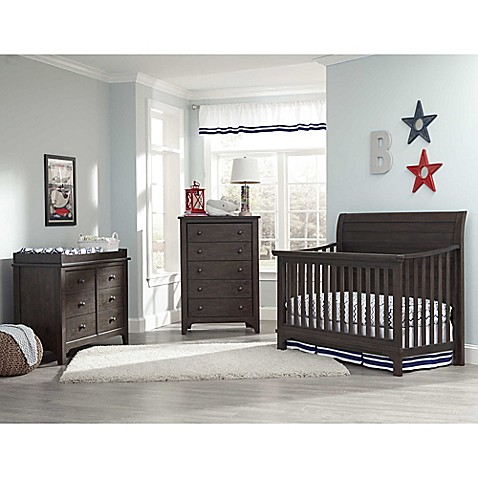 Westwood Design Taylor Crib Furniture Collection In River Rock Brown/Black
