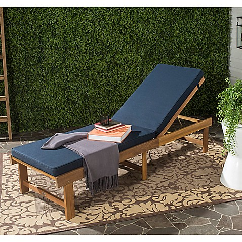Safavieh inglewood all weather chaise lounge chair in for All weather chaise
