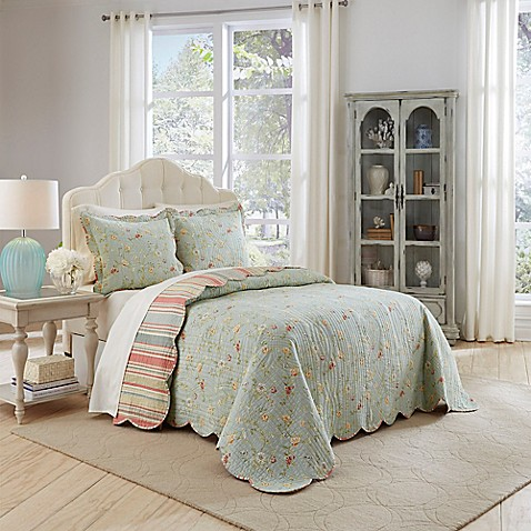 Delicieux Waverly Garden Glitz 3 Piece Reversible Bedspread Set In Vapor