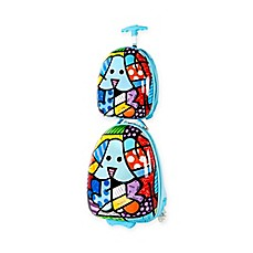 image of Heys® Britto™ 2-Piece Blue Dog Kids Luggage and Backpack Set