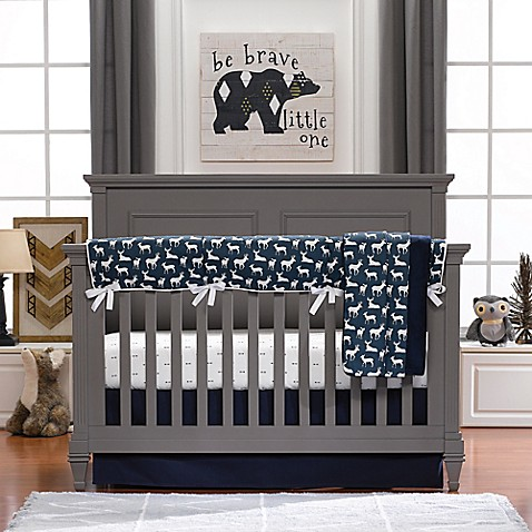 Liz And Roo Woodland Deer Crib Bedding Collection Bed