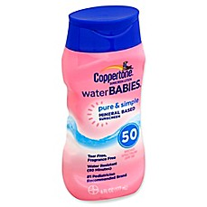 image of Coppertone® Water BABIES® Pure & Simple 6 fl. oz. Mineral Sunscreen Lotion with SPF 50