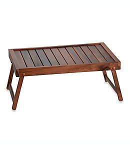 Charola para cama de madera de acacia