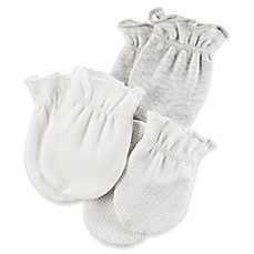 image of carter's® Size 0-3M 3-Pack Mittens in Grey
