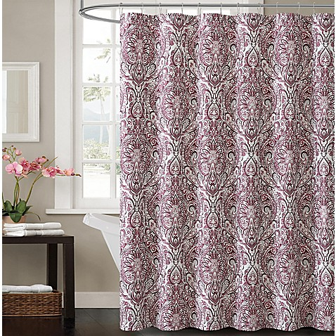 Victoria Elanza Shower Curtain In Plum Bed Bath Amp Beyond