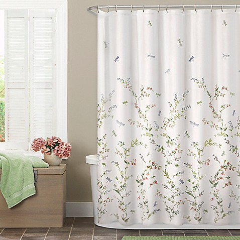 Dragonfly Garden Shower Curtain - Bed Bath & Beyond