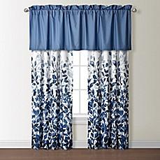 Indigo 84 Inch Rod Pocket Window Curtain Panel Pair In Blue