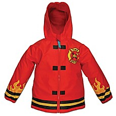 image of Stephen Joseph® Fire Truck Raincoat in Red