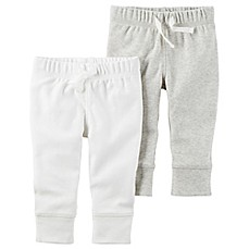 image of carter's® 2-Pack Babysoft Pant in Ivory/Grey