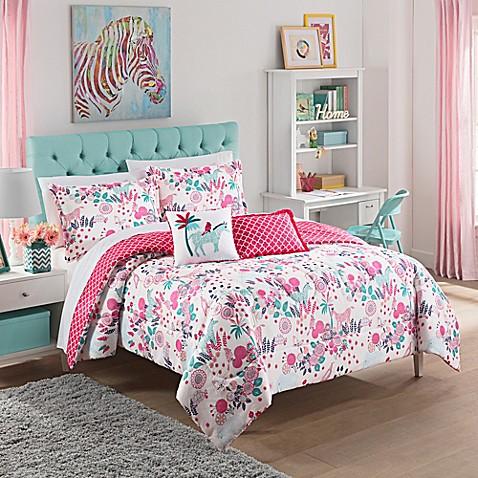 Waverly Kids Reverie Twin Reversible Comforter Set In Pink